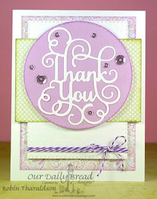 Our Daily Bread Designs Custom Dies: Thank You, Double Stitched Circles, Our Daily Bread Designs Paper Collections: Easter Card 2016, Pastel Paper Pack 2016