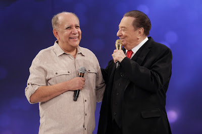 Saulo Laranjeira e Raul Gil (Crédito: Rodrigo Belentani/SBT)
