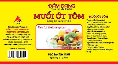 muosi tôm Tây Ninh