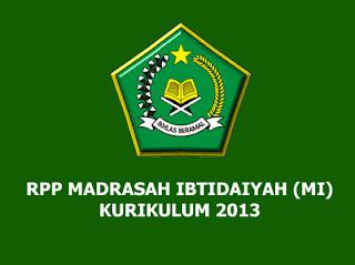 RPP Aqidah Akhlak Kelas 4 MI Kurikulum 2013 (Madrasah Ibtidaiyah)