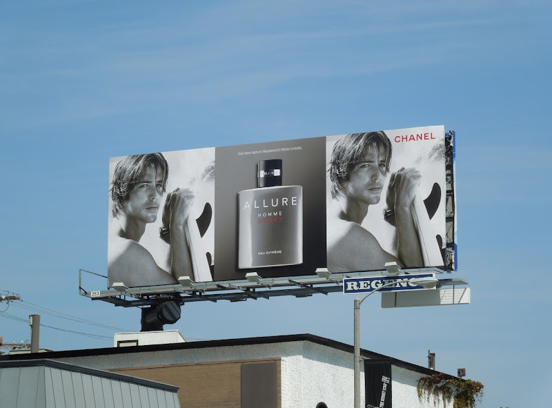 Allure Homme fragrance billboard