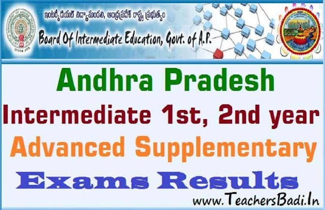 AP Inter,Supplementary Exams,Results