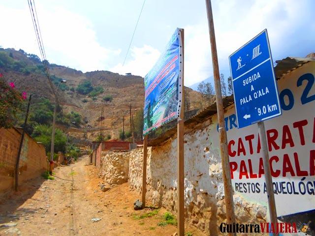 Camino a la cascada de Palacala