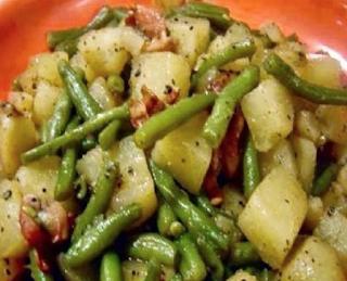 The Amazing Crockpot Ham, Green Beans and Potatoes