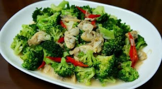 tumis brokoli dan kembang kol