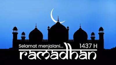 Selamat datang Ramadhan 1437 H