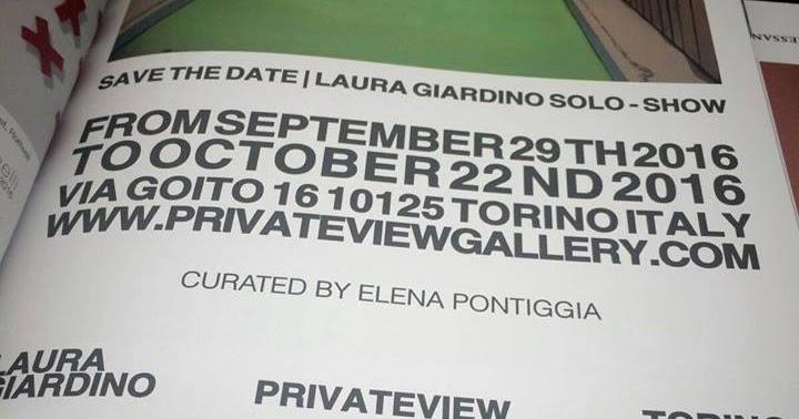 Laura Giardino a Torino...
