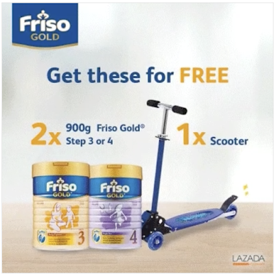 Lazada Friso Gold Step 3 & 4 Free Scooter Promo