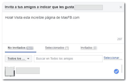 Cancelar invitación a la página - MasFB
