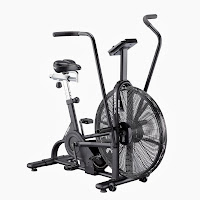 "Lifecore Fitness Assault Air Bike Trainer, top best air fan exercise bike, built for durability with 20 sealed ball bearings, 25"" steel fan wheel, 6-way adjustable seat, unlimited resistance levels"