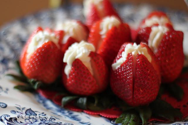 Cream filled strawberries: The Charm of Home