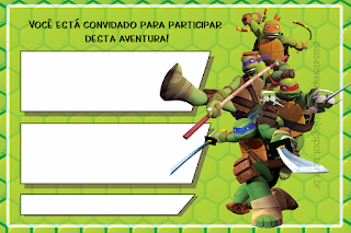 Ninja Turtles, Free Printable Invitations, Labels or Cards.