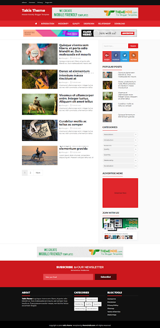 Takis fast loading and SEO friendly blogger template | Blogg ...