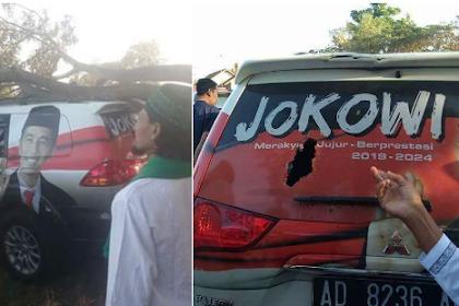 Mobil Bergambar Jokowi Tertimpa Pohon, Politisi Demokrat: Tanda2 nih..!!