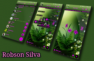 Green Flower Theme For GBWhatsApp By Robson
