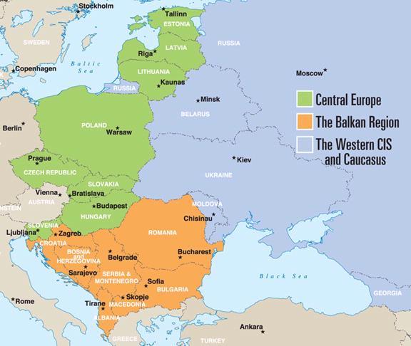 Kaart Van Europa Landkaart Kaart Van Oost Europa Afbeelding