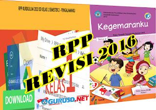 RPP Kurikulum 2013 Kelas 1 SD Edisi Revisi Lengkap Semua Tema Pembelajaran