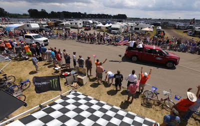Infield Campground Driver's Parade Proved Successful and Loved