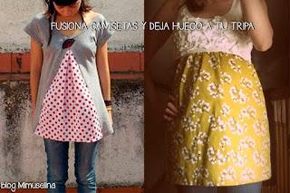 blog mimuselina adapta tus camisetas a ropa embarazada