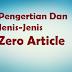 Penjelasan Tentng Zero Article Beserta Contohnya