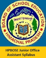 HPBOSE Junior Office Assistant Syllabus