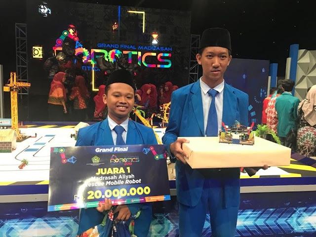 Robot Rescue Asal Nganjuk Juarai Madrasah Robotics Competition 2018, Madrasah Aliyah Negeri (MAN) 2 Nganjuk