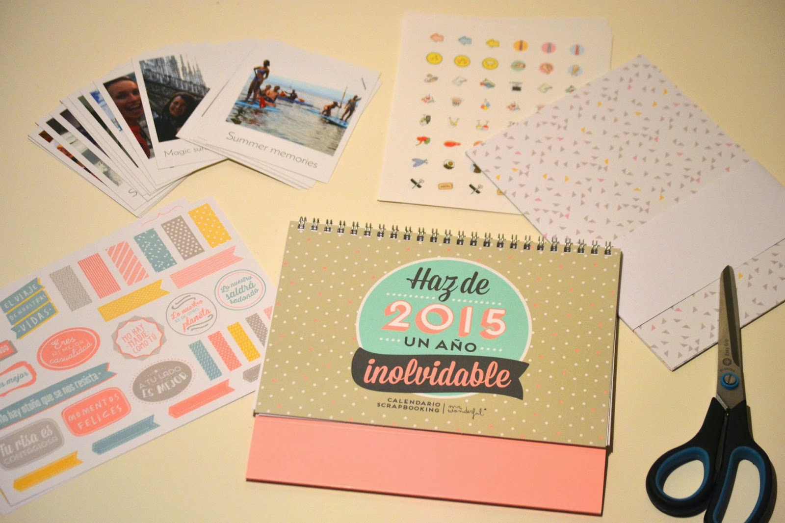 calendario scrapbook de Mr Wonderful y fotos Polabox