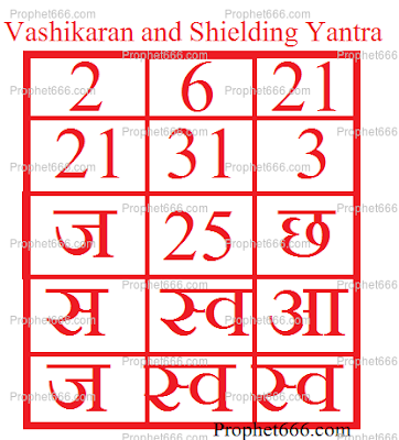 Vashikaran and Shielding from Arrow Yantra