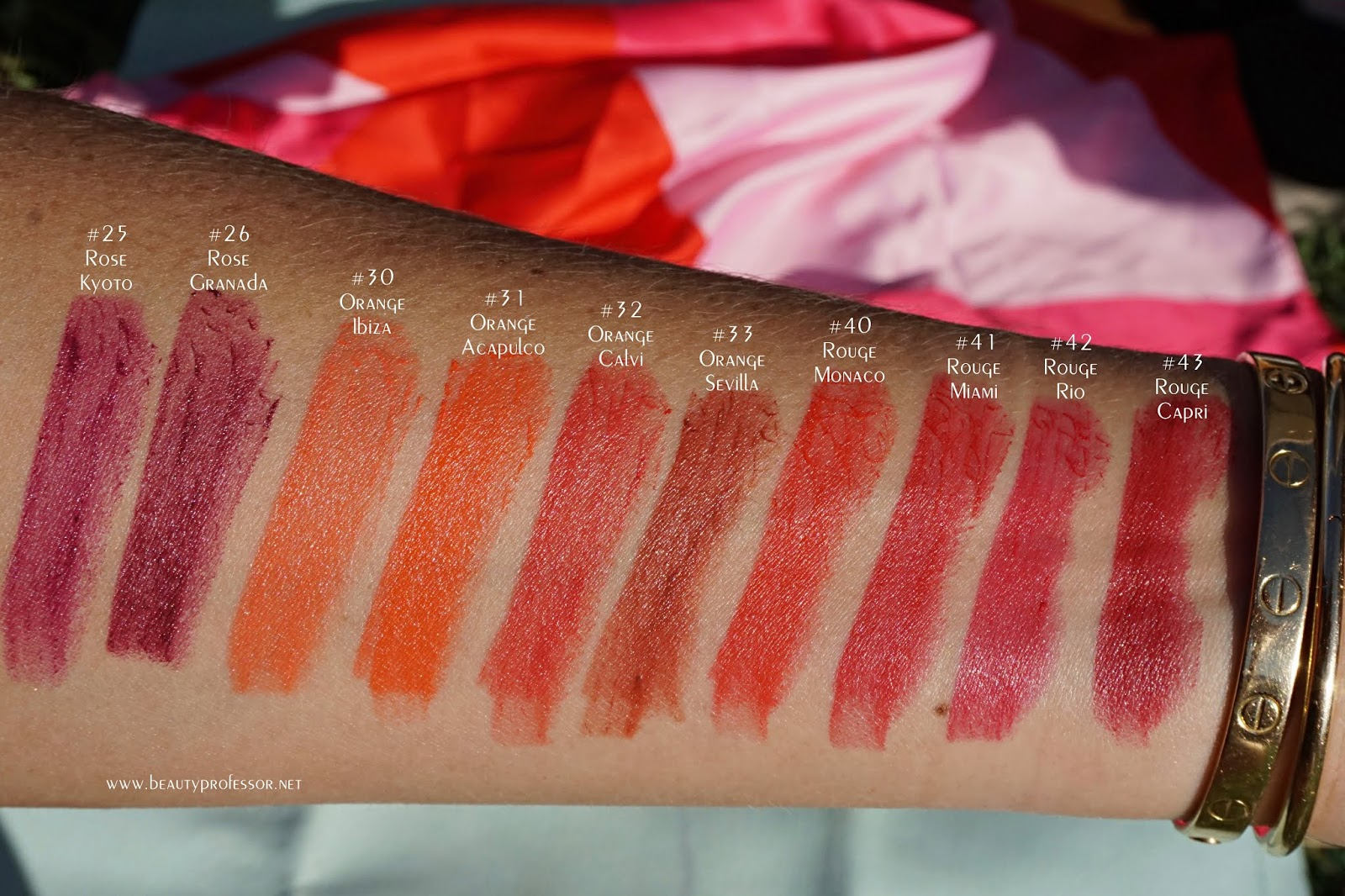 sisley le phyto rouge swatches