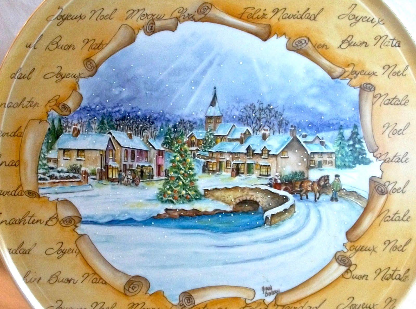 Natale e Porcellane Paesaggi innevati