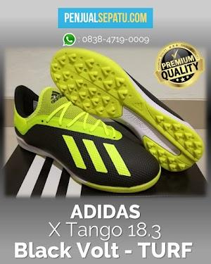 Futsal Adidas X Tango 18.3 Black Volt - TURF