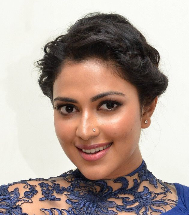 Indian Girl Amala Paul Hot Oily Face Closeup Nose Pin Stills