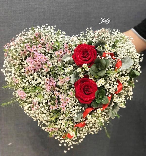 hoa sinh nhat hinh trai tim