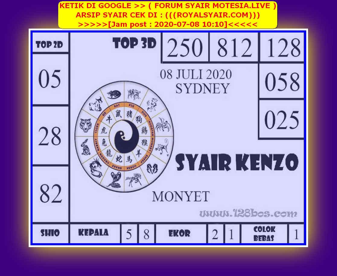 Kode syair Sydney Rabu 8 Juli 2020 136