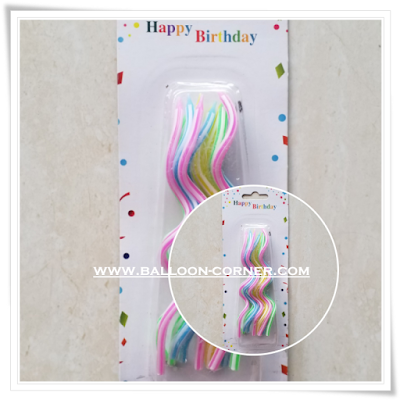 Lilin Spiral Rainbow Set 12 Pcs