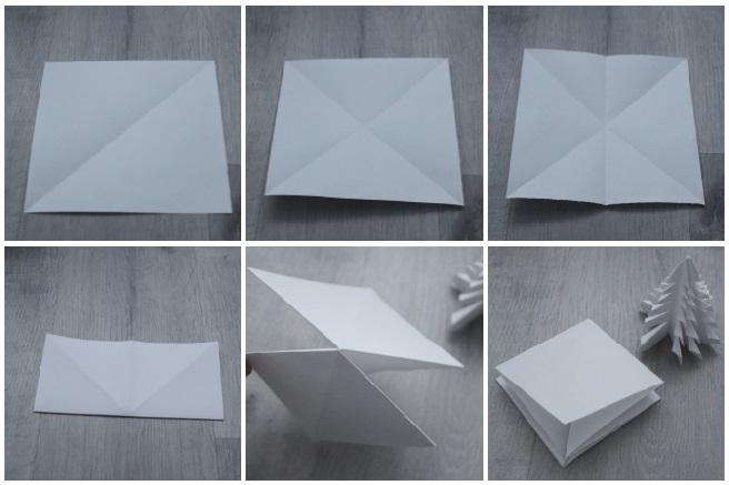 Arbol de papel diy con origami - blog de manualidades