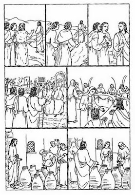 Imágenes para colorear cristianas. Dibujos De Las bodas de Caná