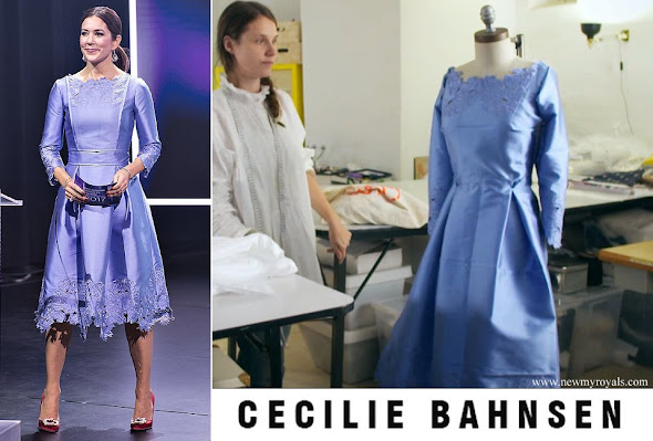 Crown princess Mary wore Cecilie Bahnsen dress