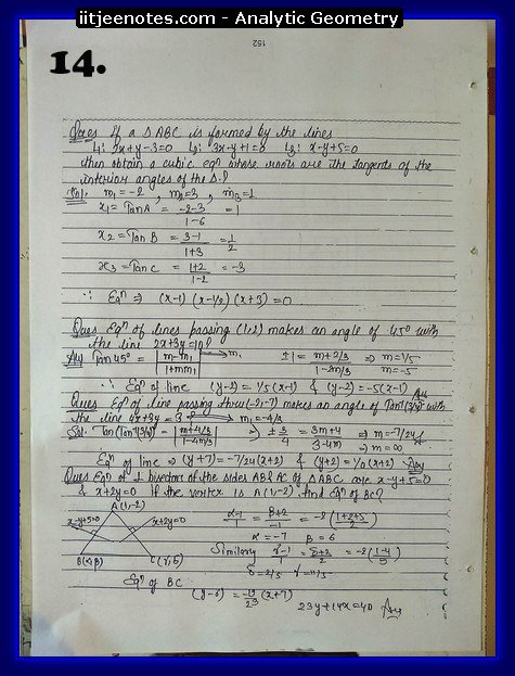 analytic geometry notes2