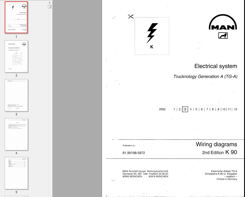 Man Ebooksoft Wiring Diagram Electrical Diagrams For Tga And System