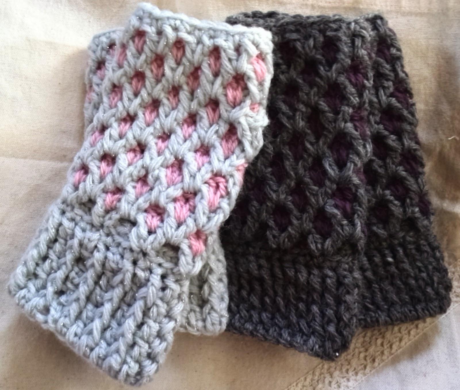 かぎ針編みのハンドウォーマーの編み方