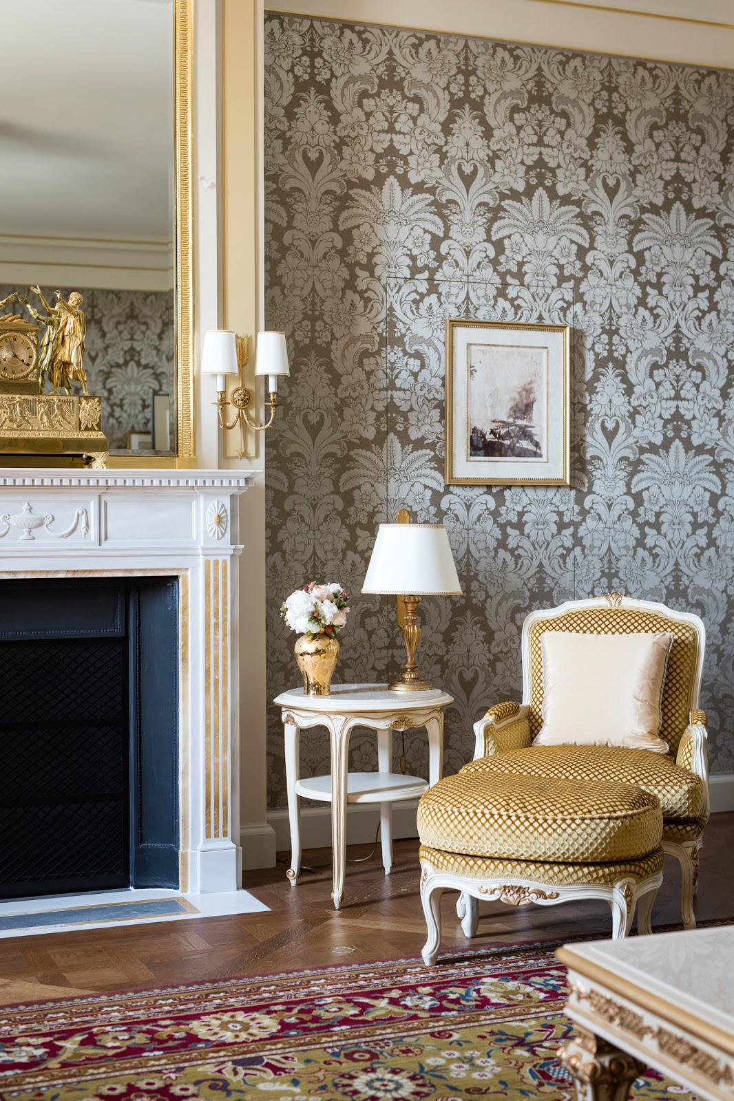 Breathtaking feminine romantic luxury interior renovated Ritz Paris