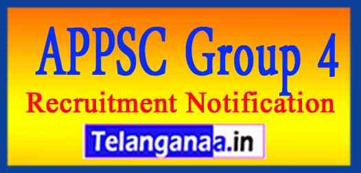 APPSC Group 4 Recruitment Notification Apply