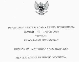 Peraturan Menteri Agama No 19 Tahun 2018