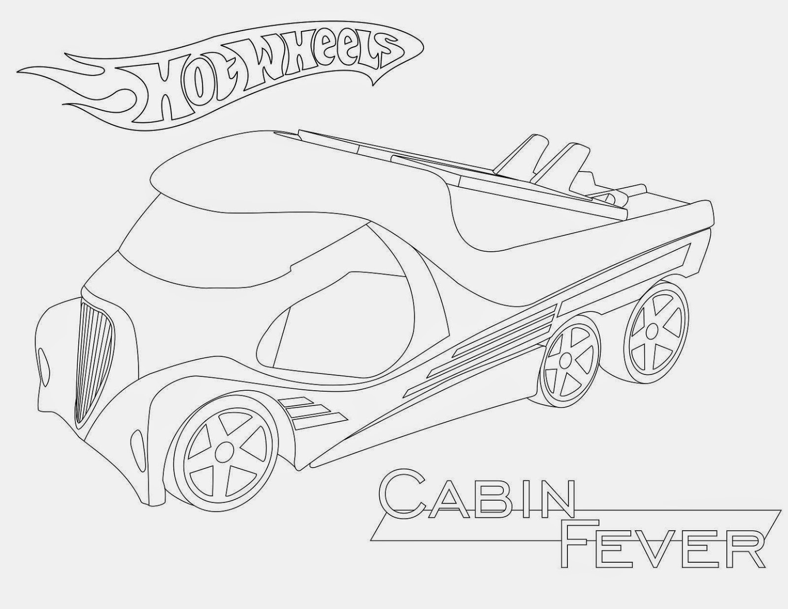 Hot Wheels Coloring Pages 50