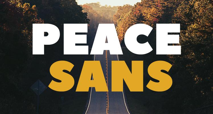 Peace Sans Font Preview