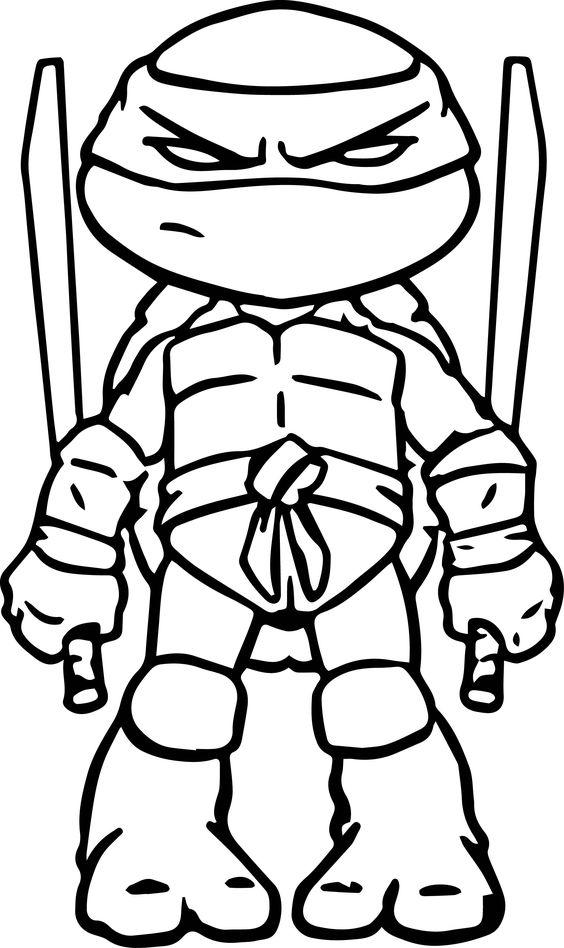 Tranh tô màu Ninja rùa 0