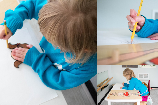 Extend the life of your puzzles with tracing - this Montessori inspired activity is a hit with many preschoolers
