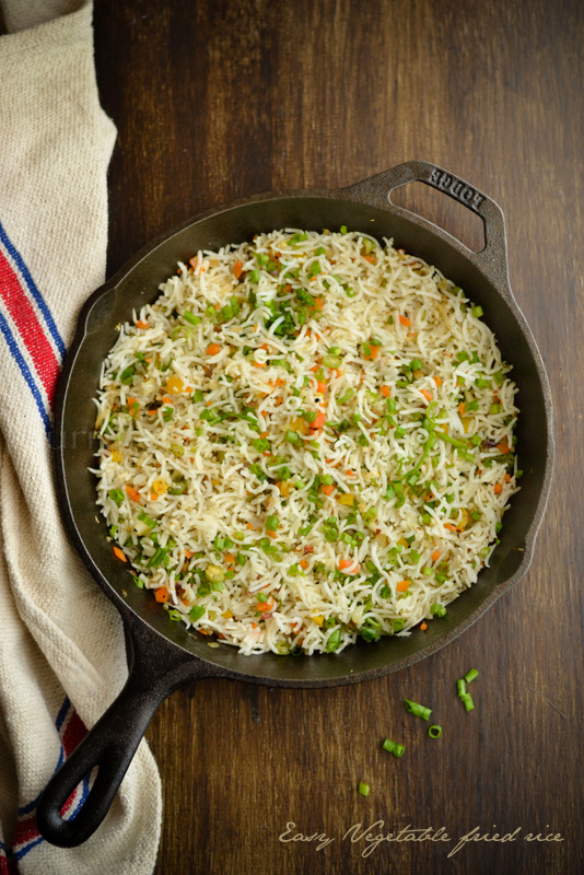 Easy vegetable fried rice kurryleaves easy vegetable fried rice ccuart Choice Image