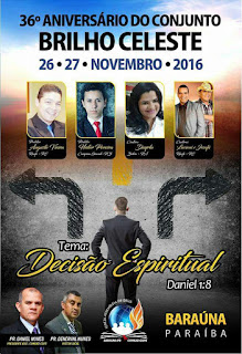 Igreja Assembleia de Deus em Baraúna realiza 36º Aniversário do conjunto Brilho Celeste